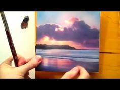 Paintings Tutorial #21 Acrylic landscape painting techniques for beginners Part 4 - YouTube