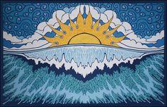 Sunrise Wave Tapestry www.trippystore.com/sunrise_wave_tapestry.html