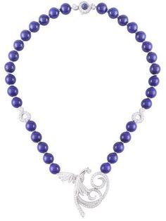 Van Cleef & Arpels lapis lazuli diamond Oiseaux de Paradis necklace