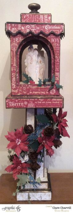 A Christmas Carol Lantern decor by Clare Charvill #graphic45