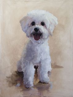 Here's my latest pet portrait. The lovely Chardonnay. Check out the initial sketches as well at the link. She gave me multiple facial expressions to choose from. http://www.patricksaunders.com/ontheeasel/?p=947