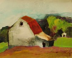 Mixed media expressive Old Barn giclee prints available by special order