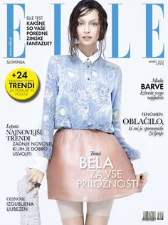 Cover of Elle Slovenia with Nastya Sviridenko, March 2013 (ID:18208)  Magazines   The FMD #lovefmd