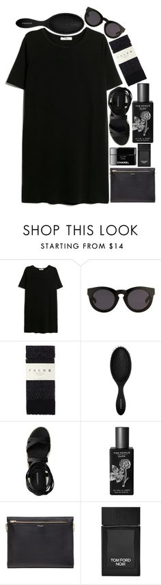 """""""Dress shabbily and they remember the dress; dress impeccably and they remember the woman- Coco Chanel"""" by daniellarosemaxwelll ❤ liked on Polyvore featuring MANGO, 3.1 Phillip Lim, Falke, Sephora Collection, Canvas by Lands' End, TokyoMilk, Yves Saint Laurent, Tom Ford, women and fashionset"""