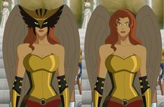 Hawk Girl without the mask