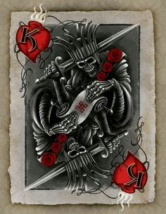 card tattoo and more king of hearts heart cards card tattoo king heart . King Of Hearts Tattoo, King Of Hearts Card, Dibujos Tattoo, Desenho Tattoo, Tattoo Studio, Heart Tattoo Images, King Queen Tattoo, Image King, Beautiful Sketches