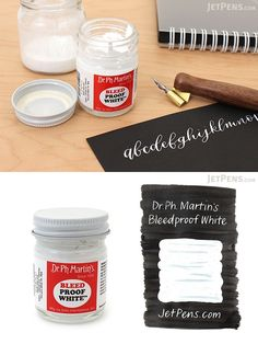 This opaque white watercolor is perfect for adding highlights to drawings and illustrations or for covering small mistakes. It can be diluted with water and used with a brush or dip pen. Calligraphy Supplies, Beautiful Handwriting, White Pen, Jet Pens, Dip Pen, Pen Art, Illuminated Letters, Alcohol Inks, Art Techniques