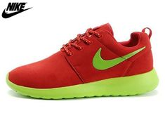 new styles fb2f5 5ec02 2013 Womens Nike Roshe One Low Anti Fur Waterproof Running Shoes Red  Green,Wholesale Cheap