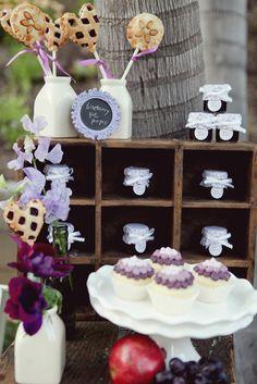 Photography: Brandon Kidd Photography - brandonkidd.net Event Design + Planning: Bella Destinee - belladestinee.com Floral Design: Dolce Designs Studio - dolcedesignsstudio.com  Read More: http://www.stylemepretty.com/california-weddings/2012/05/10/purple-vintage-ombre-inspired-photo-shoot-by-bella-destinee/