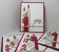 Christmas Candles of Joy - Stampin' Up! Your Presents and Merry Moments DSP