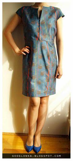 Keep calm and continue.: sukienka Burda 3/2014 mod 120 i leniwce z Cottonbee