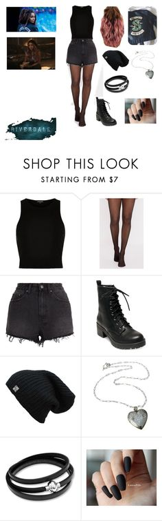 """Toni Topaz- Riverdale (Southside Serpent)"" by thegirlinthehood on Polyvore featuring River Island, Ksubi, Madden Girl, Serpent, southside and riverdale"