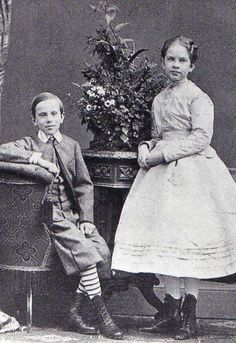 Gisela Luise Marie & Rudolf. Sister and brother. Children of Kaizer Franz Jozef and Kaiserin Elisabeth (Sissi)