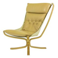 Falcon Chair High-Back Beech wood frame by Sigurd Russell