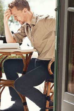 I like to imagine... In my fantasy-land, I took this picture of Tom as he sits outside on the patio of our home, reading over a new script ;) ... yes I love my fantasy world lol