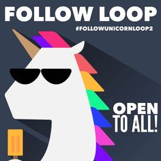 Want to meet some new IG accounts?  Small shops reps and bloggers are all welcome to join and follow our loop!  1. Click on #followunicornloop2 2. Tap on the FIRST photo 3. Scroll down & follow every person in the hashtag group!  4. Repost this image with #followunicornloop2 . Make sure to follow everyone AND comment  on each post when done.  Please allow 24 hours for everyone to follow you back. If you unfollow so will we. We will be checking!