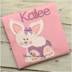 Spring Crawling Baby Bunny Girls Pajamas - Personalization Available