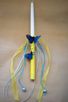 Fluterrific Royal Blue Easter Candle Lampada by LimaniDesigns, $15.00