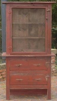I love this cabinet! If you LOVE PRIMITIVES like I do!we have an amazing selection of Primitive cabinets, book cases, tables, cupboards. Primitive Cabinets, Primitive Kitchen, Primitive Furniture, Primitive Antiques, Country Furniture, Antique Furniture, Painted Furniture, Rustic Kitchen, Primitive Decor