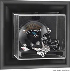 The Jacksonville Jaguars wall mountable mini helmet logo display case is  made of… 313afa264