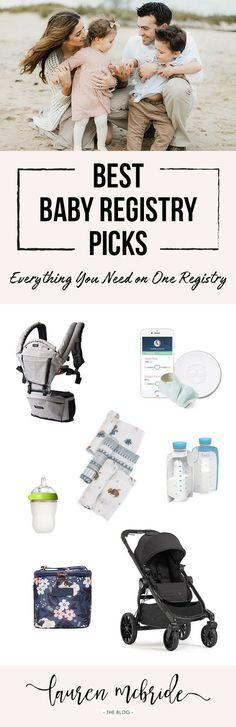 Stylish Mom of 3 Baby Registry: Lauren McBride's Picks Best Baby Registry, Baby Registry Items, Baby Box, Baby Necessities, Baby List, 3rd Baby, Baby Hacks, Trendy Baby, Blog