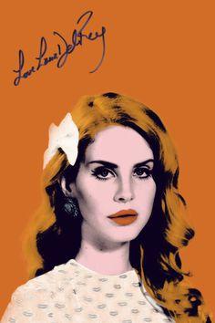 Lana Del Rey Art Poster Lana Del Rey Poster by WeLovePosterDotCOM