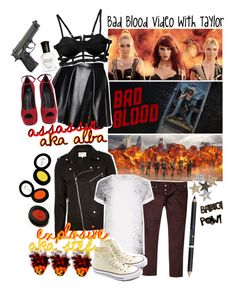 """Bad Blood Video With Taylor // collab with @styleboy"" by albamonkey ❤ liked on Polyvore"