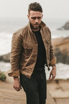 Taylor Stitch The Long Haul Jacket in Field Tan Waxed Canvas. #mensjackets