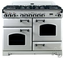 """AGA vintage white 36"""" dual fuel range with cathedral doors.  for my husband."""