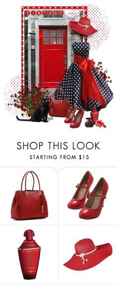 """""""Cat & Polka Dots"""" by sagramora ❤ liked on Polyvore featuring London Fog, Guerlain and Trilogy"""