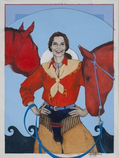 "Doreman Burns 8x10 Matted Print titled /""Buffalo Gal/"""
