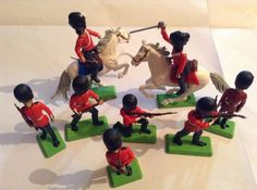 Vintage Britains Ltd Deetail Set Of English Guards And Horses on Etsy, £29.00