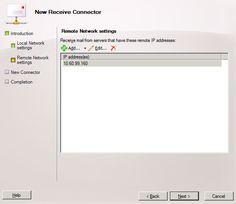 Managing Relay connectors in Exchange Server 2007/2010 (Part 2)