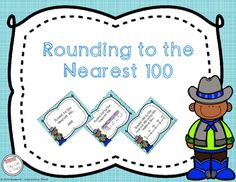 Round to the Nearest 100 Task Cards. Practice rounding to the nearest with these fun task cards. Some even have word problems.
