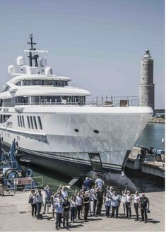 Commissioned by Jeanette and John Staluppi as their third James Bond-inspired yacht, motoryacht Spectre was launched on August at Benetti's f… James Bond Theme, Super Yachts, Product Launch, Building, Travel, Inspiration, Inspired, Biblical Inspiration, Luxury Yachts