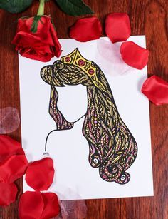 Zentangle Beauty Sleep by ZenspireDesigns on Etsy