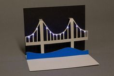 Light-up bridge Paper circuits