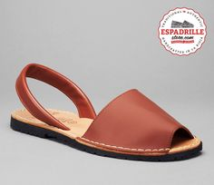 00a4f98b9543 Fine brown leather sandals from Spain