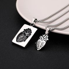 Puzzle Jewelry Couple Collares Anatomical Heart Necklace Women Valentine Day Gift Stainless Steel Chain Pendant Collares 2019 Buy With Off (Limited Offer) Initial Necklace Gold, Dainty Diamond Necklace, Diamond Choker, Love Necklace, Diamond Pendant, Silver Necklaces, Gold Bracelets, Gold Earrings, Star Earrings