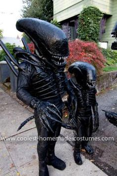 Coolest Alien Family Costume Last year I decided that I wanted to make my son an Alien for Halloween but I wanted to do the one from the movie Alien. & Wearable Alien costume? Hell yeah I want one. | Just Cool ...