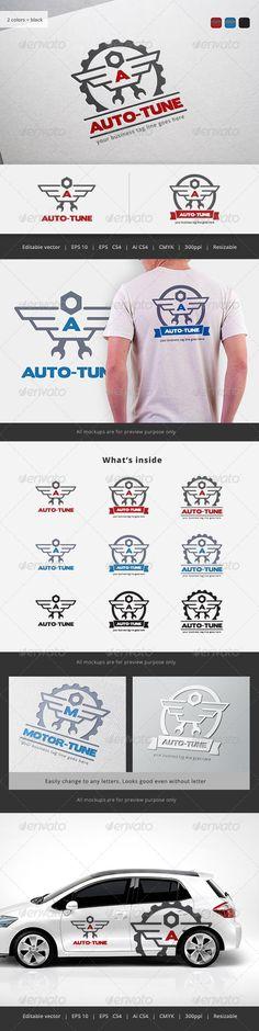 Auto Tune  - Logo Design Template Vector #logotype Download it here: http://graphicriver.net/item/auto-tune-logo/5722706?s_rank=623?ref=nesto