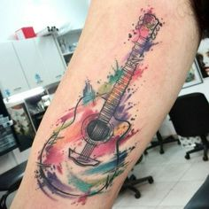 Imagen de guitar and watercolor