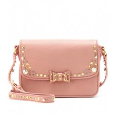 ee672cbb3dfd Miu Miu Embellished Leather Shoulder Bag in Petalo