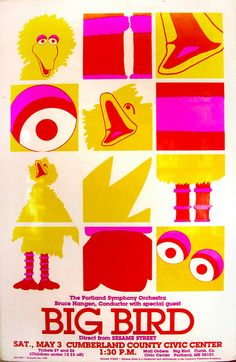 big bird with the portland symphony orchestra, 1980   i love everything about this poster