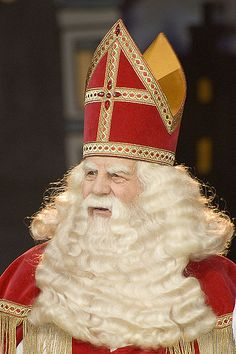 Sint Nicolaas (Saint Nicholas - Dutch Santa) Sinterklaas is a traditional Dutch celebration on 5th December enjoyed by all with surprises and creative poems. Festivities start as early as November when Sinterklaas visits Holland and celebrates his birthday on December 5th.