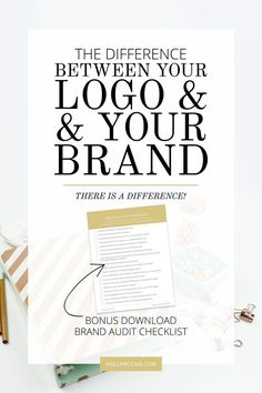 Understanding the difference between your logo and your brand is crucial as a blogger or business owner. Often, the use of these two terms gets confused, and people immediately believe that your brand is your logo design. Without a solid understanding of your brand, you shouldn't attempt to develop a logo. Let me explain. And, download a free Brand Audit Checklist at http://hollymccaig.com.