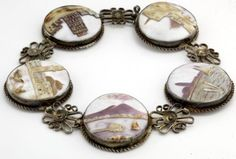 Antique 1860 Victorian Sterling 935 Silver Grand Tour Italian Cameo Bracelet! in Jewelry & Watches, Vintage & Antique Jewelry, Fine, Retro, Vintage 1930s-1980s, Bracelets | eBay