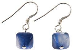 Pyramid - Indigo Earrings