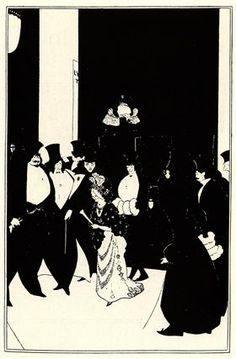 Lady Gold's Escort - Aubrey Beardsley
