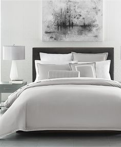 hotel collection contrast flange duvet covers created for macyu0027s